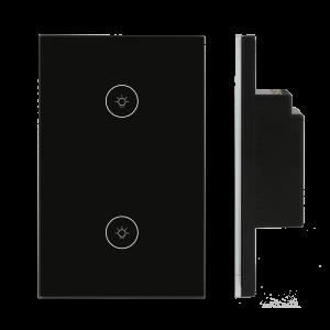 03.Công tắc Wifi SmartLife chữ nhật kính đen – DÒNG CLASSIC