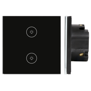 01.Công tắc Wifi SmartLife vuông kính đen – DÒNG CLASSIC