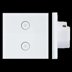 02.Công tắc Wifi SmartLife vuông kính trắng – DÒNG CLASSIC